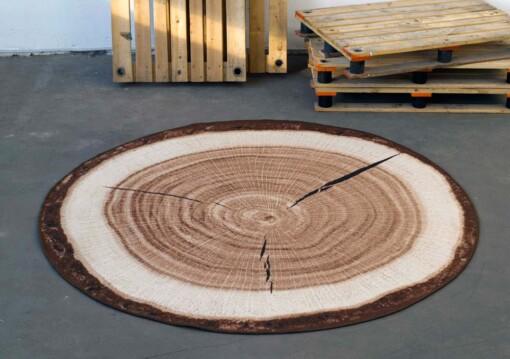 Vloerkleed hout
