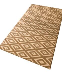 Moderne loper ruiten Diamond - bruin/beige - overzicht schuin, thumbnail