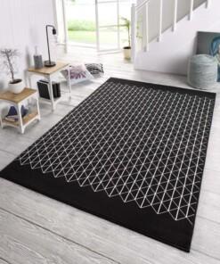 Design vloerkleed Twist - zwart/crème - sfeer, thumbnail