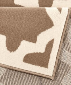 Design vloerkleed Noble - taupe/crème - close up