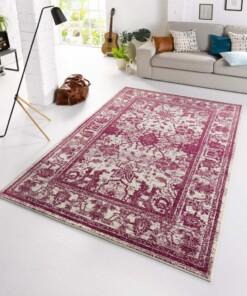 Design vintage tapijt Glorious - violet/crème - sfeer, thumbnail
