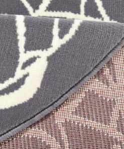 Modern vloerkleed rond Mandala - grijs - close up