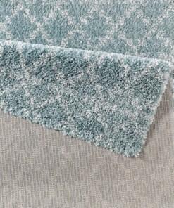 Modern design vloerkleed Cameo - blauw/crème - close up