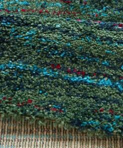 Hoogpolig modern vloerkleed Chic - groen - close up