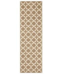 Design loper Glam - bruin - overzicht boven