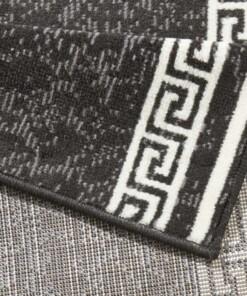 Design loper Casa - zwart - close up