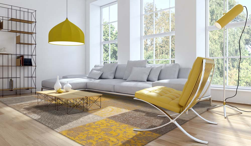 Living room giallo