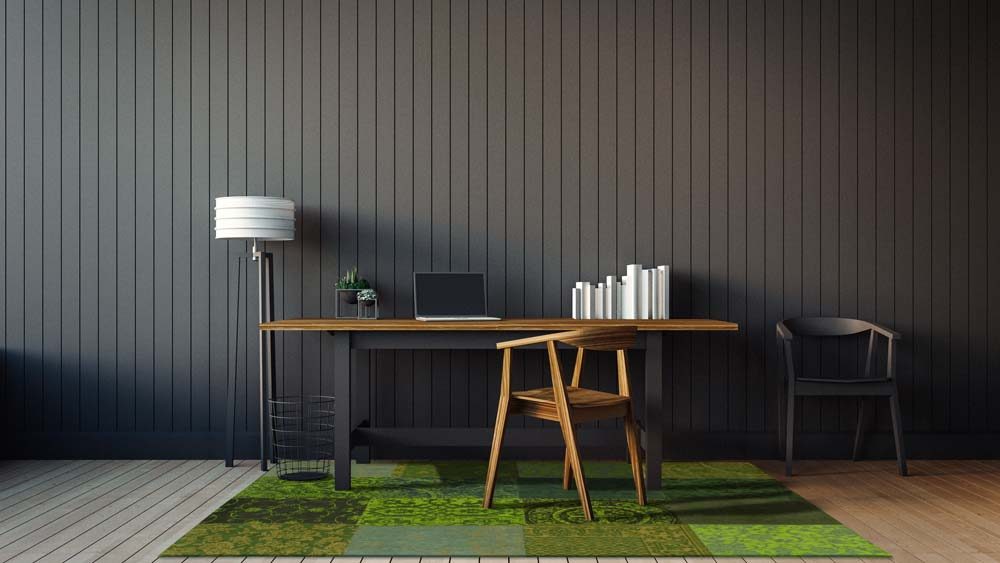 The modern interior of home office / 3D render image classical c