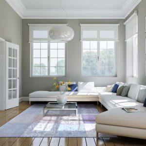 Wohnzimmer in Altbauwohnung