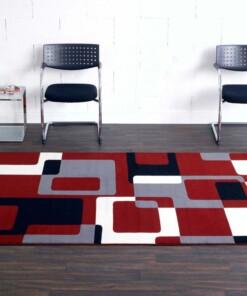 Modern vloerkleed Retro - rood
