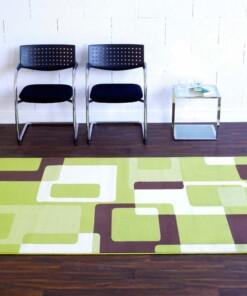 Modern vloerkleed Retro - groen