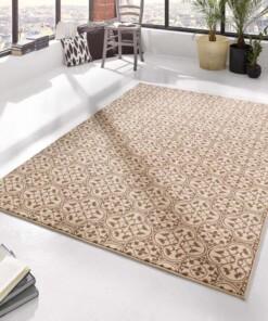 Modern vloerkleed Pattern - bruin/crème - sfeer, thumbnail
