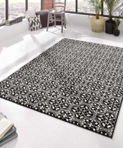 Modern vloerkleed Pattern - zwart/crème - sfeer, thumbnail