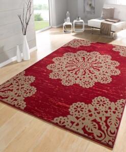 Modern vloerkleed Lace - rood/bruin - sfeer, thumbnail