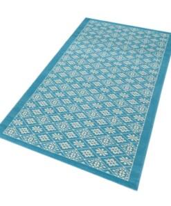 Moderne loper Tile - blauw/crème - overzicht schuin, thumbnail