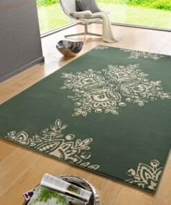 Modern vloerkleed Blossom - groen - sfeer, thumbnail