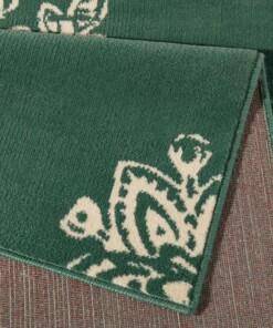 Modern vloerkleed Blossom - groen - close up