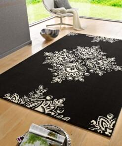 Modern vloerkleed Blossom - zwart - sfeer, thumbnail