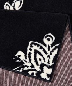 Modern vloerkleed Blossom - zwart - close up