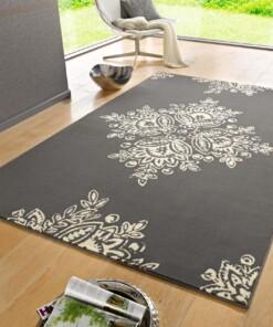 Modern vloerkleed Blossom - grijs - sfeer, thumbnail