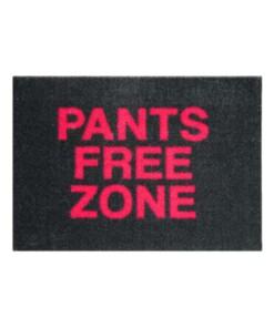 """Deurmat """"Pants Free Zone"""" Wasbaar 30 °C 102870 - overzicht boven, thumbnail"""