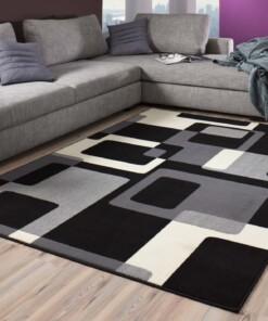 Modern vloerkleed Retro - zwart