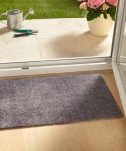 Modern effen deurmat Clean & Go - grijs