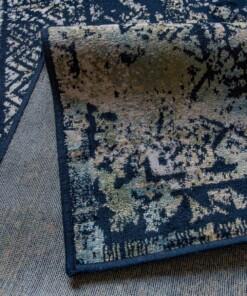 Vloerkleed Joy de Vivre Feather blauw 3161 close-up