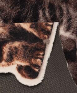 Deurmat Kerst Katten Wasbaar 30°C Speciale Vorm - close up