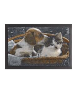 Deurmat hond en kat Wasbaar 30°C - overzicht boven, thumbnail