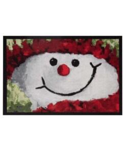 Deurmat kerst sneeuwpop Wasbaar 30°C - overzicht schuin, thumbnail