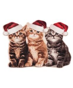 Deurmat Kerst Katten Wasbaar 30°C Speciale Vorm - overzicht schuin, thumbnail