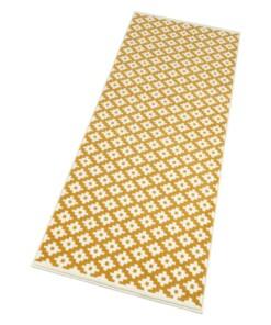 Moderne loper ruiten Lattice - goud/crème - overzicht schuin, thumbnail