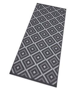 Moderne loper ruiten Snug - zwart/crème - overzicht schuin, thumbnail