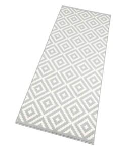 Moderne loper ruiten Native - grijs/crème - overzicht schuin, thumbnail