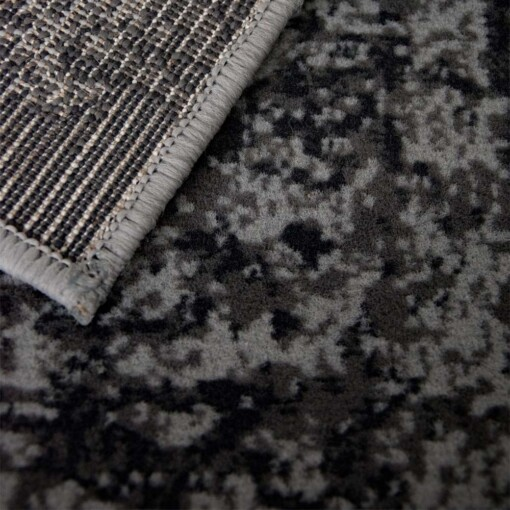 Vintage vloerkleed pixel grey mouse close up