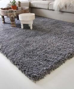 Hoogpolig vloerkleed shaggy Royal 5cm hoogte - grijs