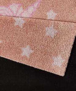 Vloerkleed Eenhoorn - crème/beige - Wasbaar 30°C - close up