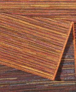 Binnen & buiten vloerkleed Lotus - terracota/oranje - close up