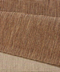 Binnen & buiten vloerkleed effen Match - bruin - close up
