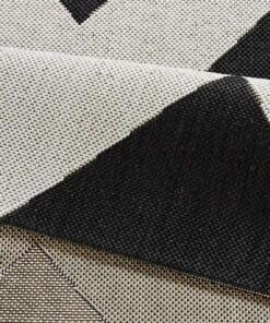 Loper binnen & buiten zigzag Unique - zwart - close up