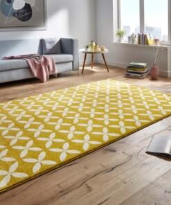 Modern vloerkleed Cross - geel - sfeer, thumbnail