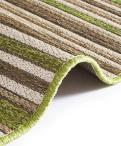 Binnen & buiten vloerkleed Bamboo - groen/taupe - close up