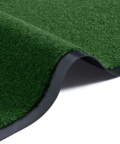 Modern effen deurmat Garden Brush - groen - close up