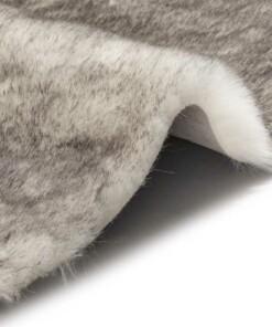 Imitatiebont hoogpolig vloerkleed Superior - grijs/wit - close up