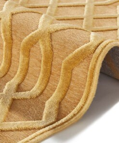Modern vloerkleed Caine - goud - close up