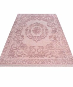 Vloerkleed Taboo 1301 - roze - overzicht schuin, thumbnail