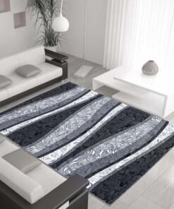 Modern vloerkleed Miami Zwart 6540