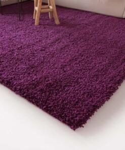 Hoogpolig vloerkleed shaggy Trend effen - paars