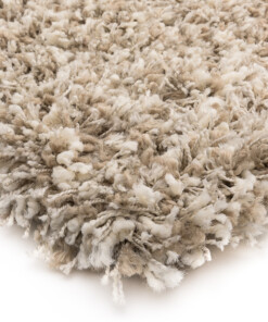 Hoogpolig vloerkleed Gemêleerd - Shaggy Prime wit/beige